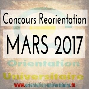 Concours de Réorientation Mars 2017